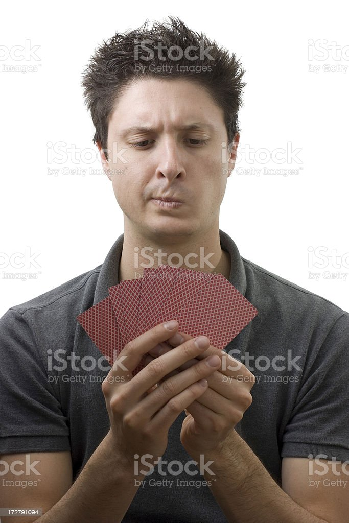 Bad hand in poker royalty-free stock photo