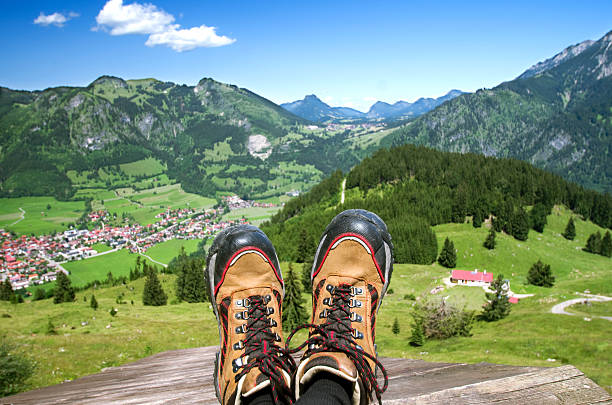 Bad Hindelang Oberjoch stock photo