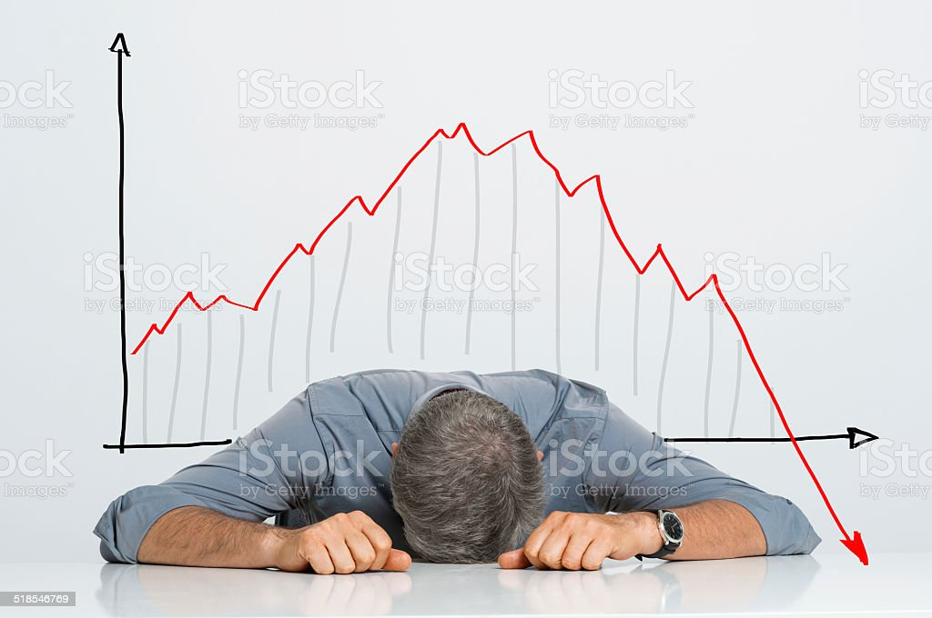 Bad investment stock photo
