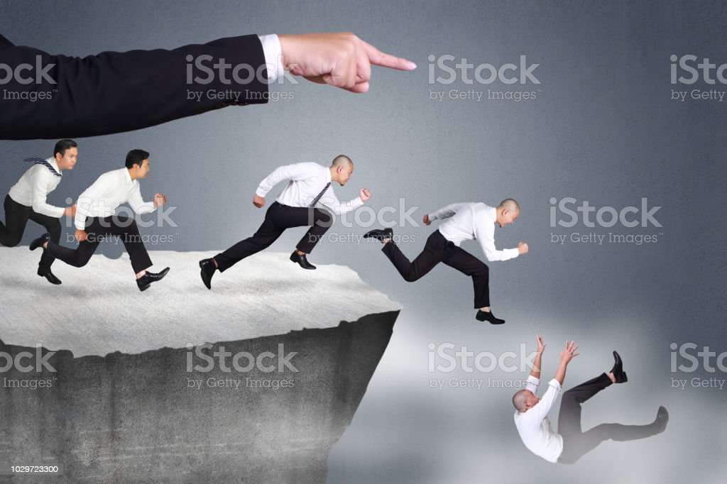 Bad Leader Give Wrong Direction stock photo