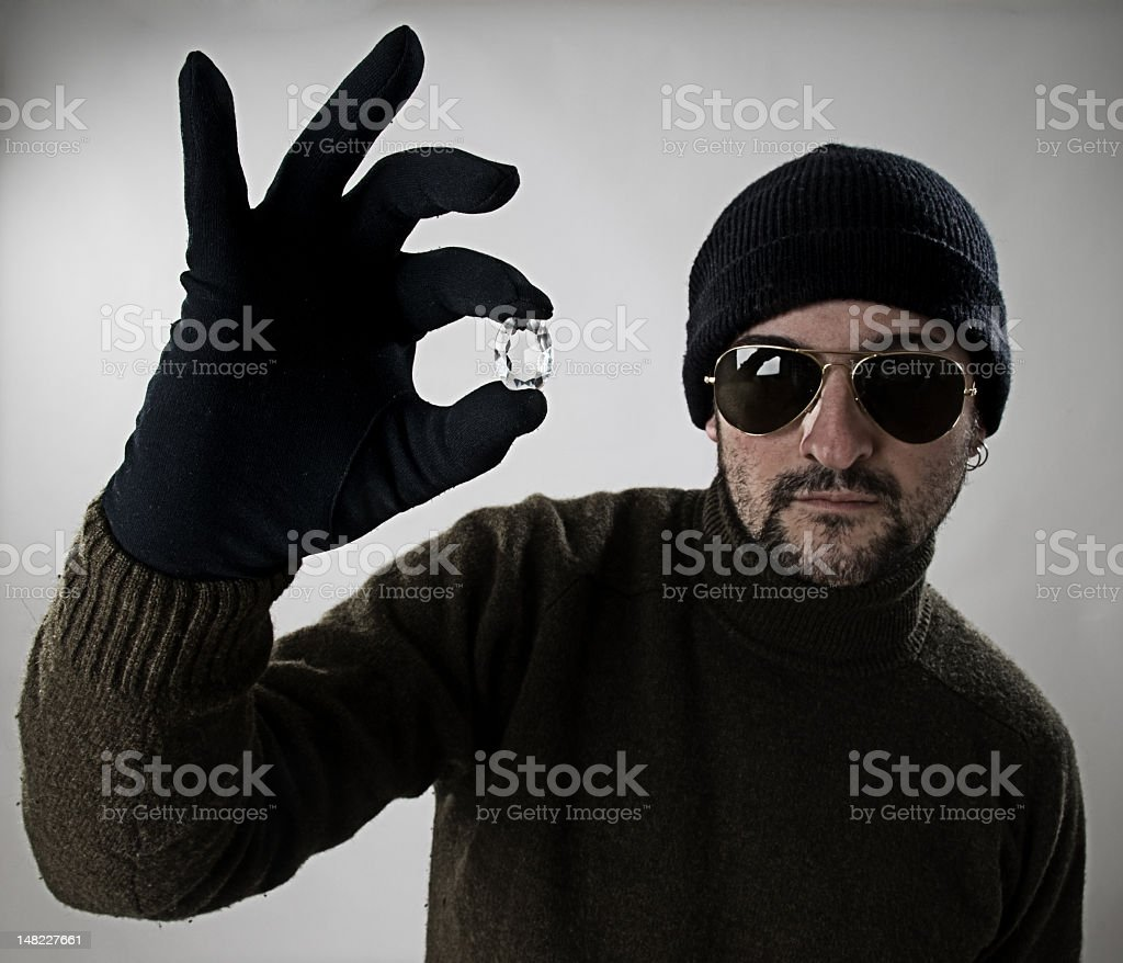 Bad man, good day. stock photo