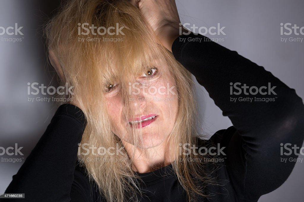 Bad Mental Health Moment royalty-free stock photo