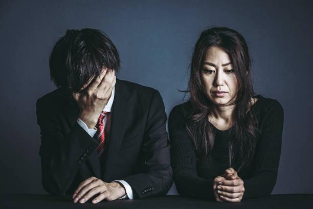 Schlechte Laune Männer und Frauen – Foto
