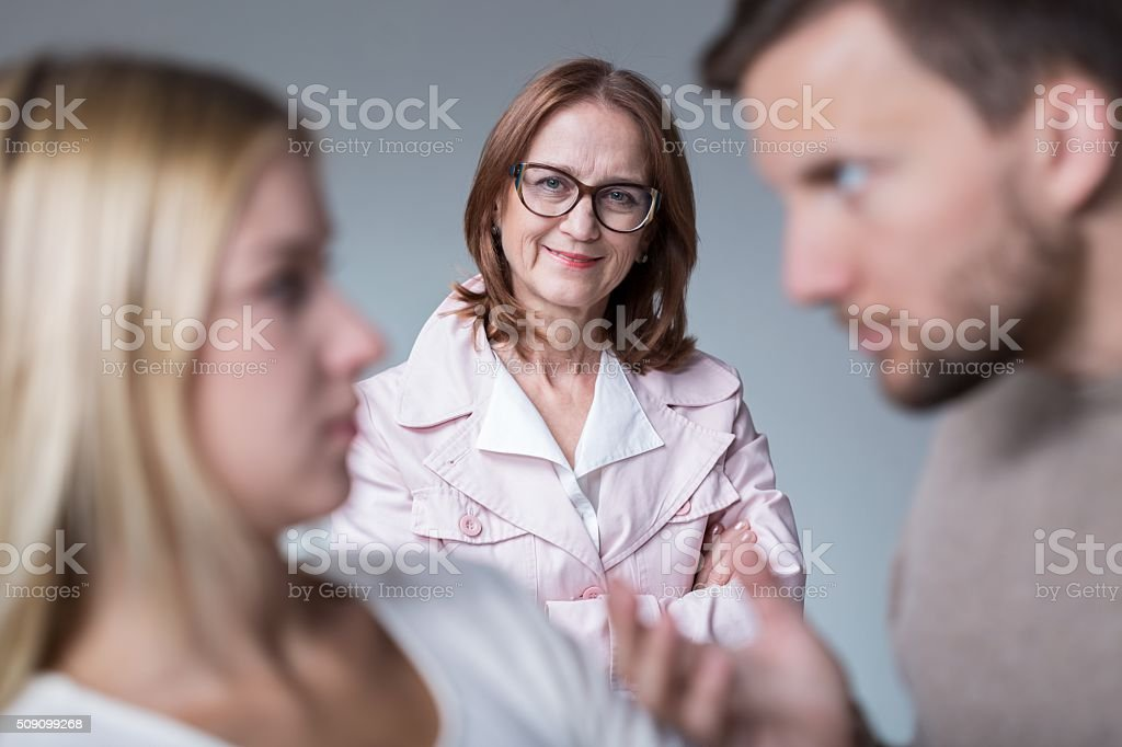 Bad mother-in-law stock photo