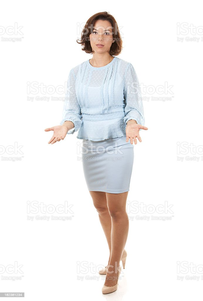 bad news from businesswoman royalty-free stock photo