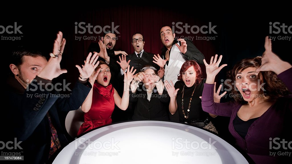 Bad News Scary Seance royalty-free stock photo