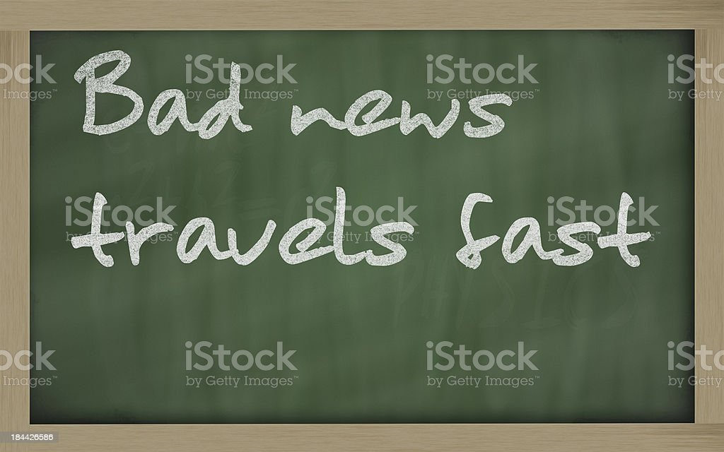 Bad news travels fast stock photo