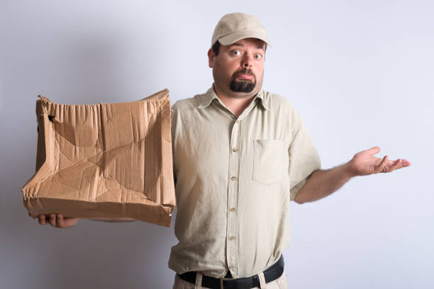Bad Parcel Delivery stock photo