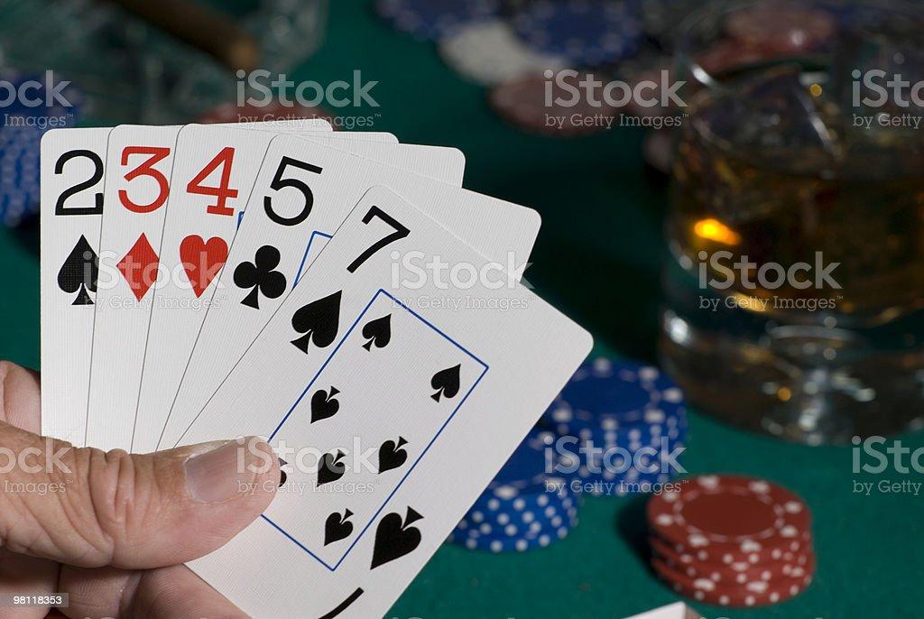Bad poker hand royalty-free stock photo
