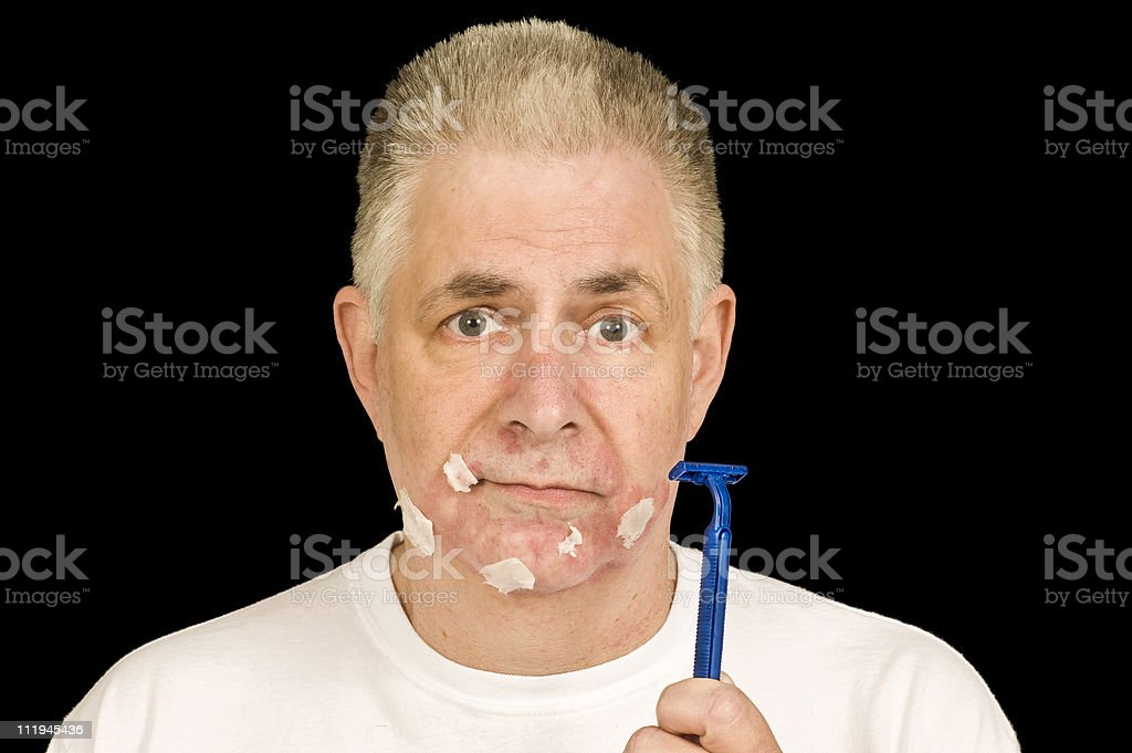 Bad Shave stock photo