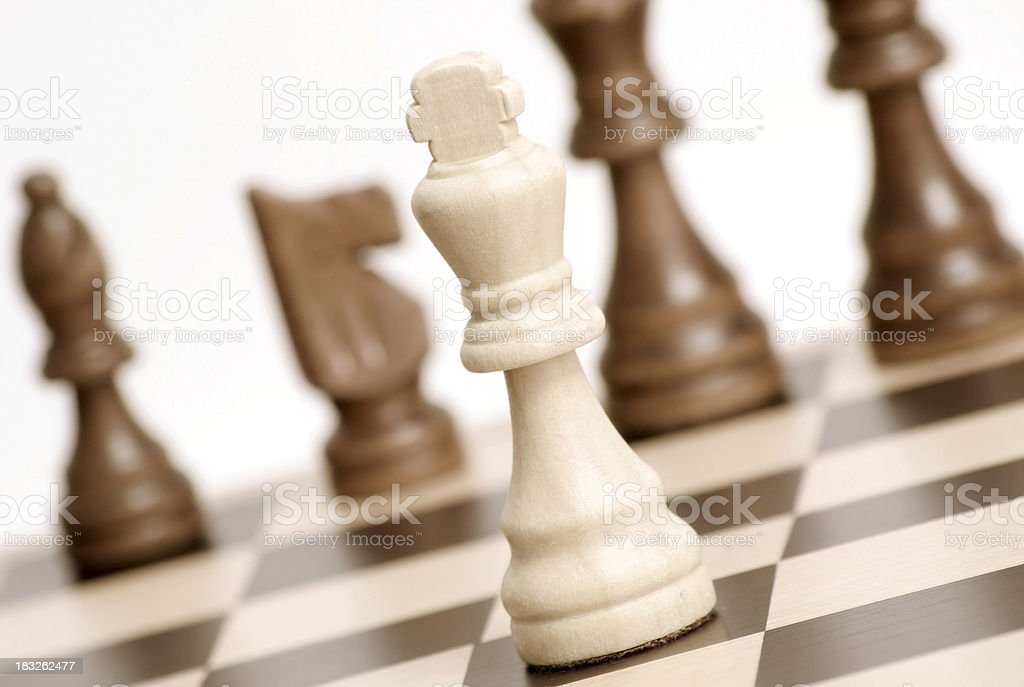 Bad situation - Chess game royalty-free stock photo