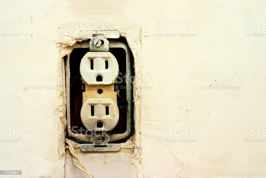 Bad socket stock photo