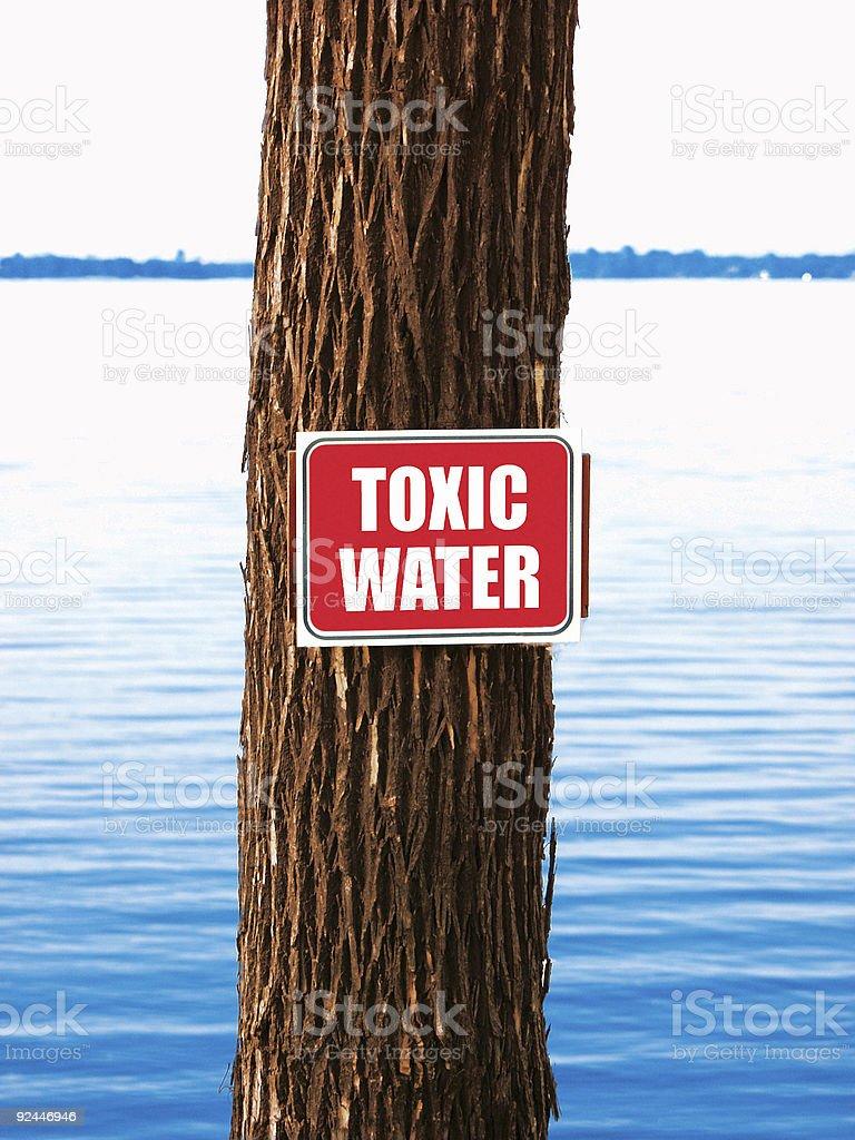 Bad Toxic Water royalty-free stock photo