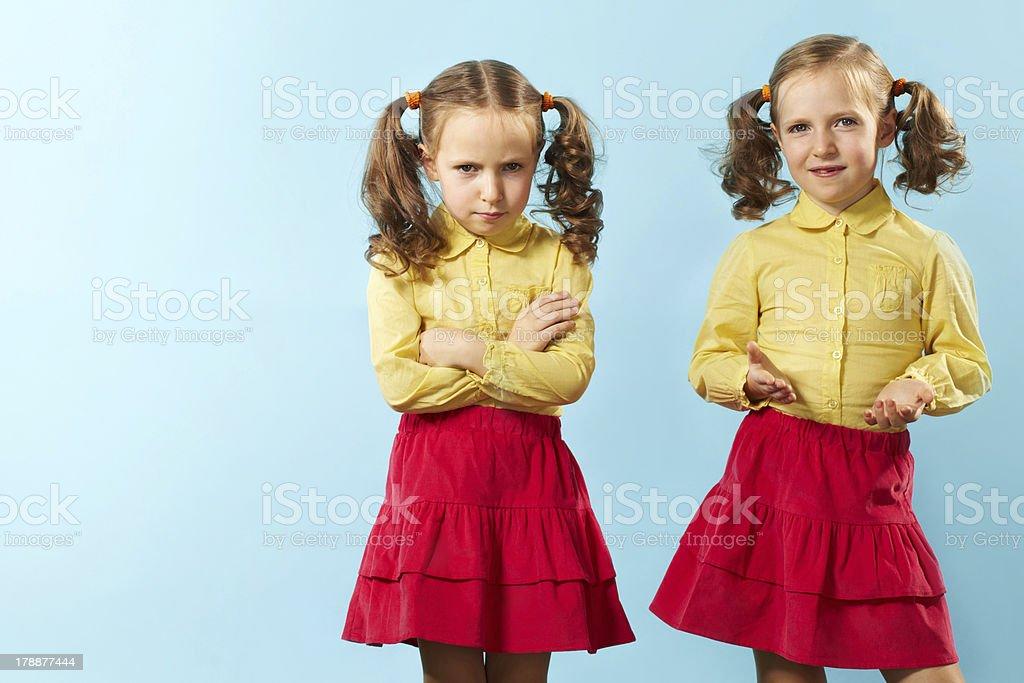 Bad twin/Good twin stock photo