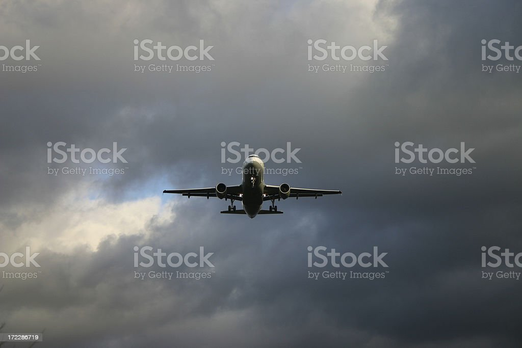 Bad weather approach royalty-free stock photo