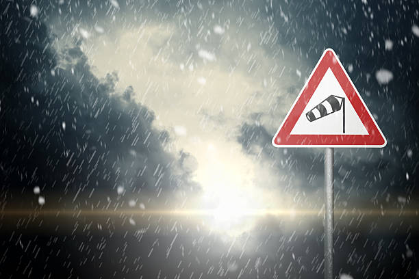 Schlechtes Wetter-Vorsicht – Foto