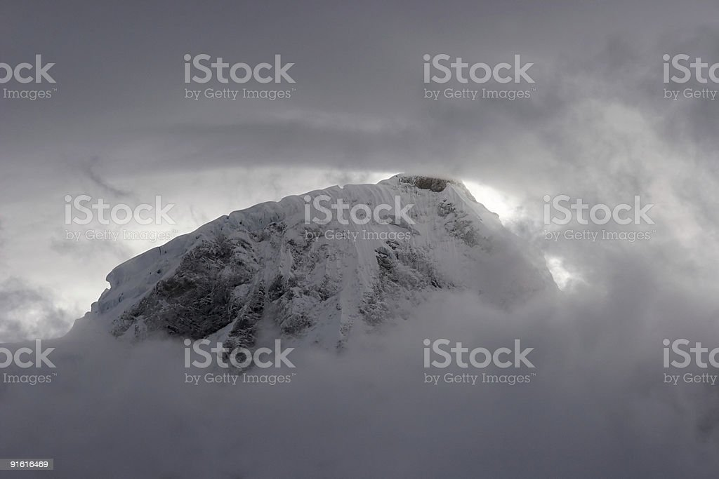 Bad weather in mountains royalty-free stock photo