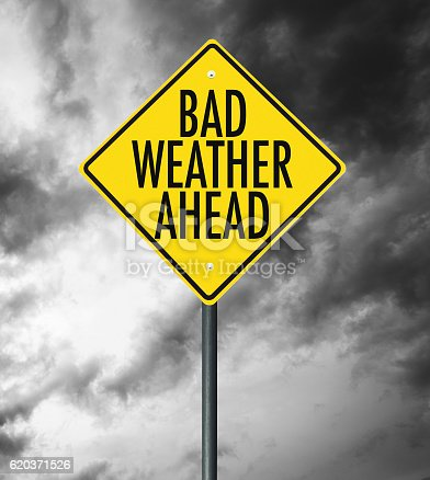istock bad weather street sign 620371526