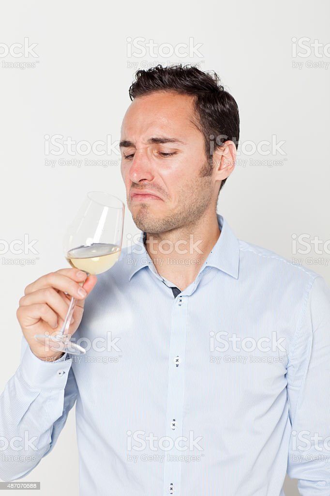 Bad wine stock photo