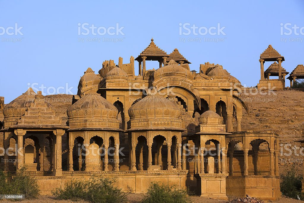 Bada Bagh Cenotaph jaisalmer rajasthan state in india stock photo