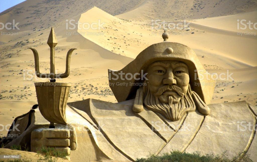 Badain Jaran desert, Inner Mongolia, China stock photo