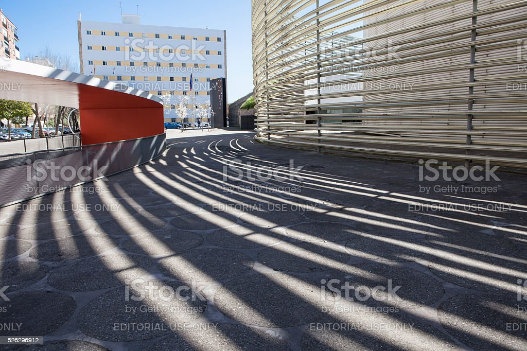 Badajoz Congress Center building stock photo