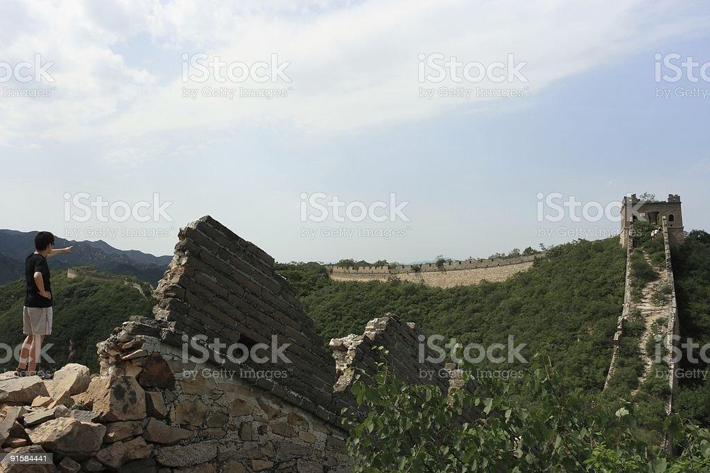 Badaling Original Part of Chinese Big Wall stock photo