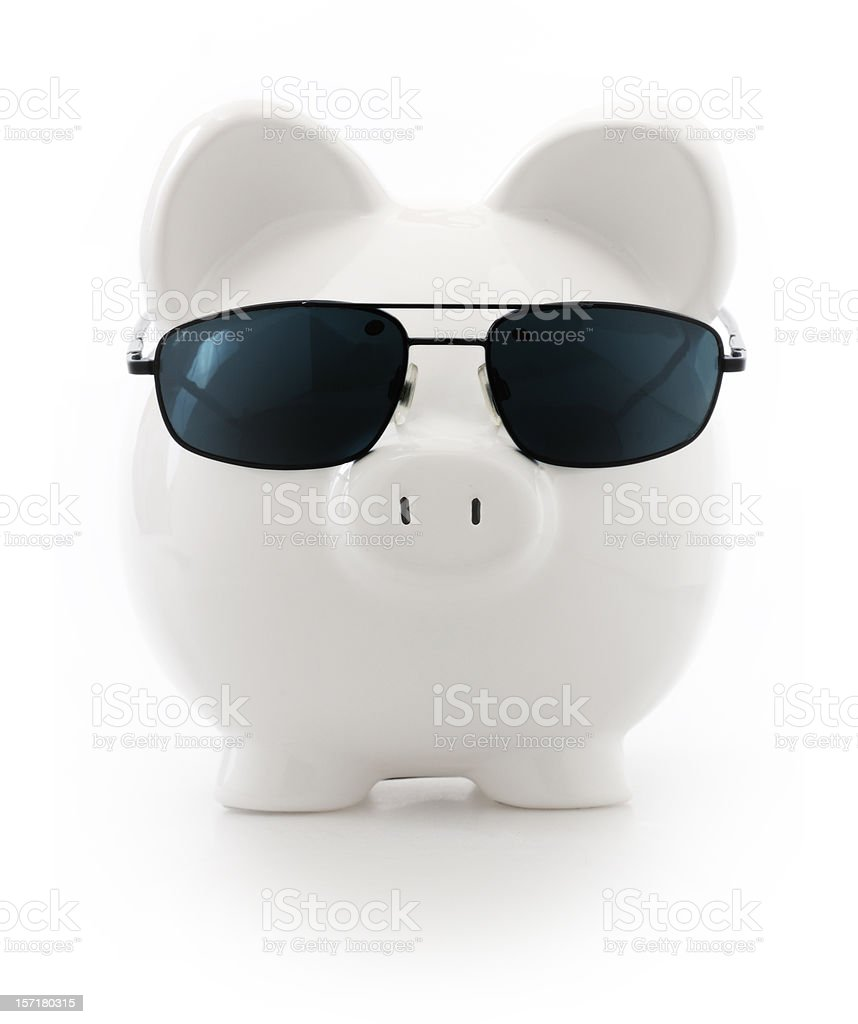 badass pig royalty-free stock photo