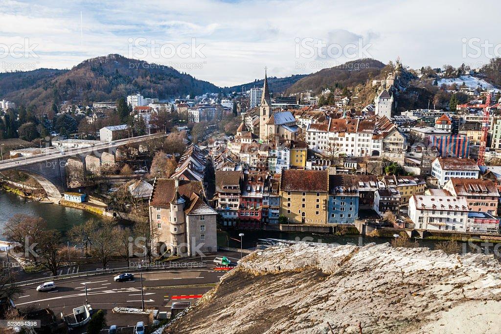 Baden in canton of Aargau, Switzerland stock photo
