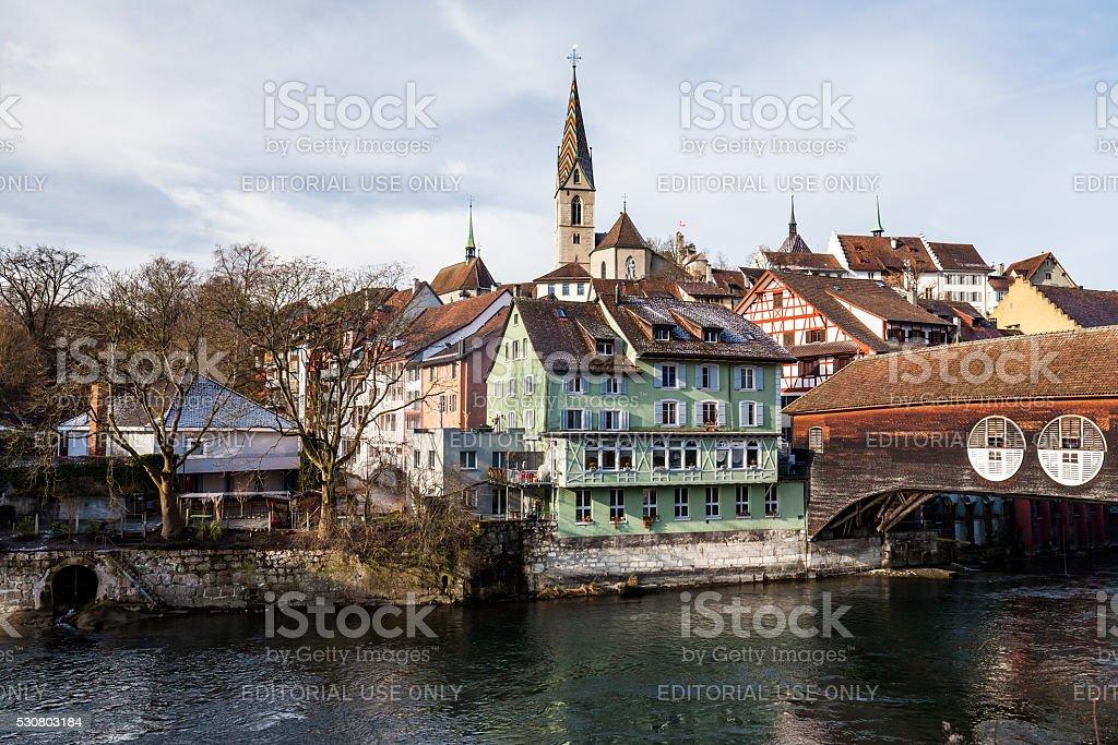 Baden in the canton Aargau, Switzerland stock photo