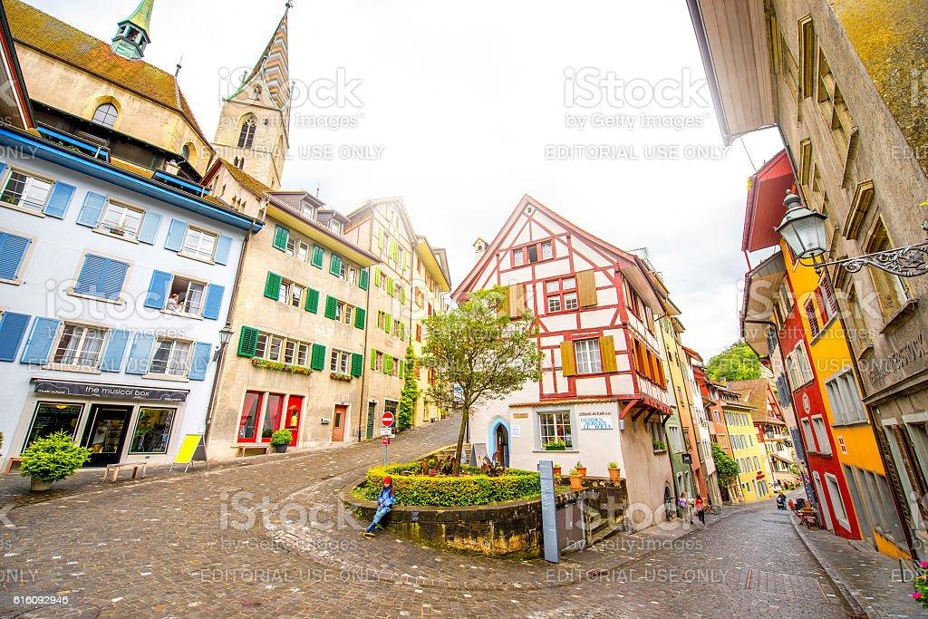 Baden old town in Switzerland stock photo