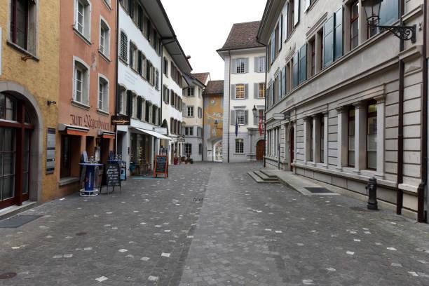 Baden Old Town (Switzerland) stock photo