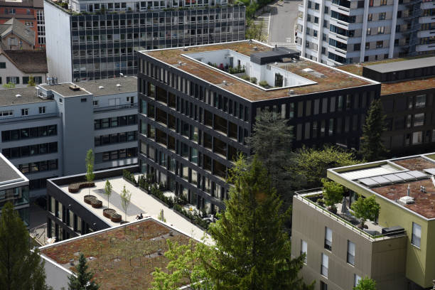 baden (schweiz) panorama clos-up - wiedenmeier baden stock-fotos und bilder