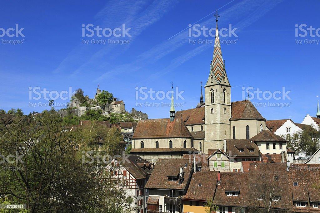 Baden Stadt in der Schweiz von Kanton Aargau – Foto