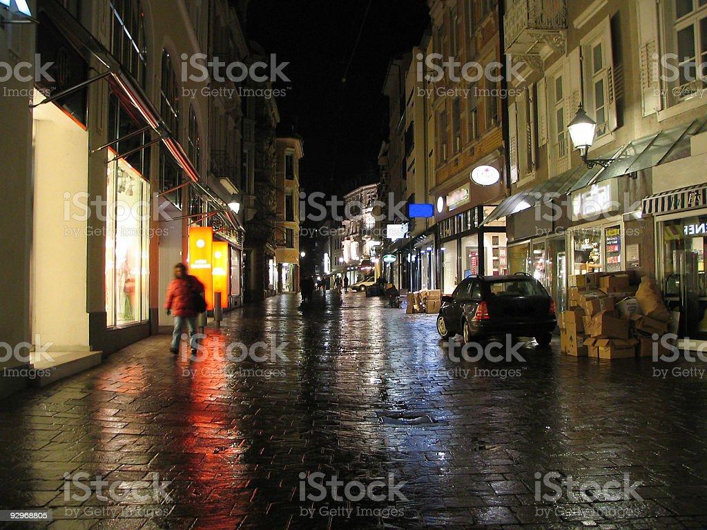 Baden-Baden by night royalty-free stock photo