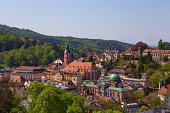 Aview overlooking the church and the old city.  Baden-Baden has been careful to keep its old world charm.
