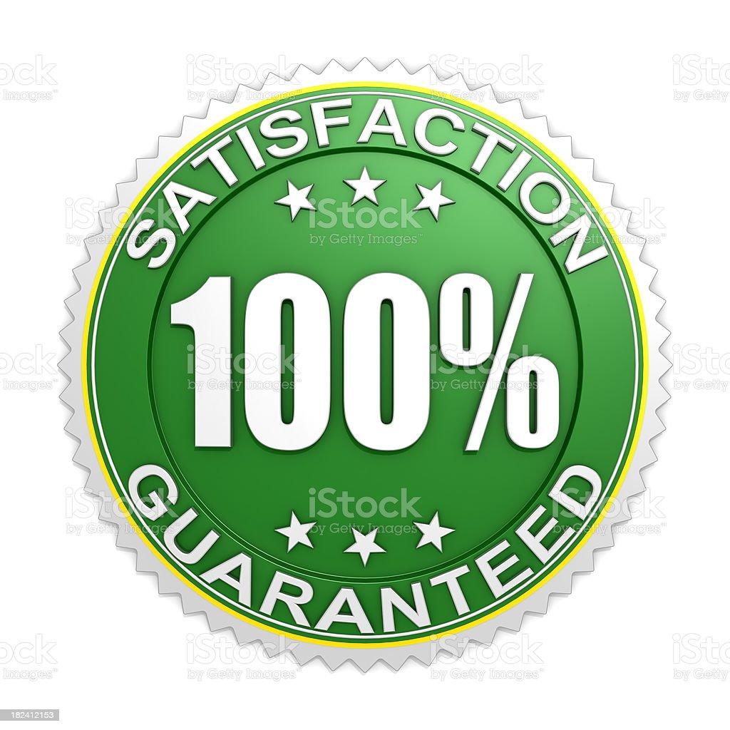 Badge 100% Satisfaction guaranteed royalty-free stock photo