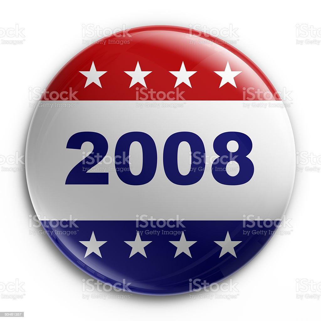 Badge - 2008 election stock photo