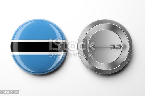istock Badge 3d render on White 945402122