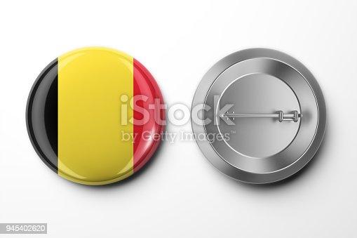 istock Badge 3d render on White 945402620