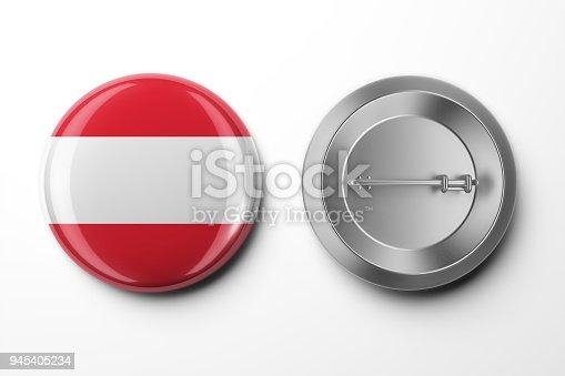 istock Badge 3d render on White 945405234