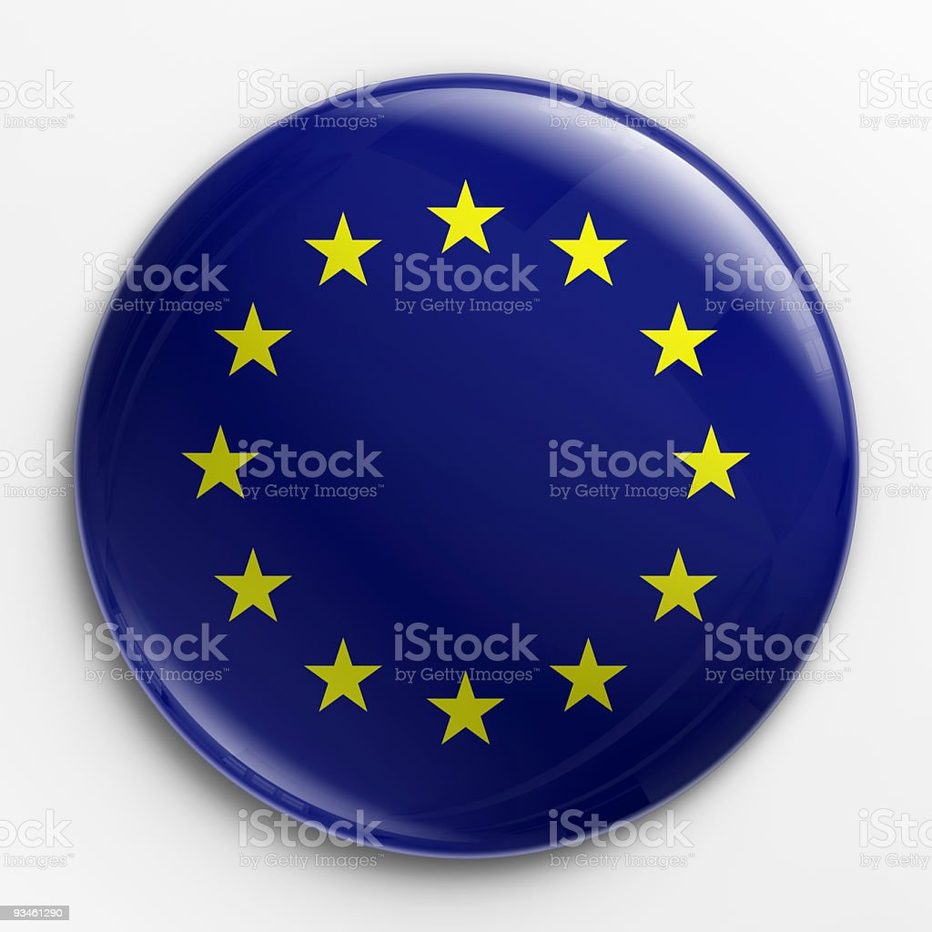 Badge - flag of Europe royalty-free stock photo