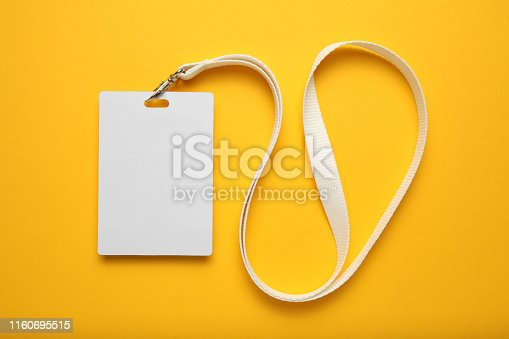 istock Badge name tag, lanyard. Conference, event, convention vip pass 1160695515