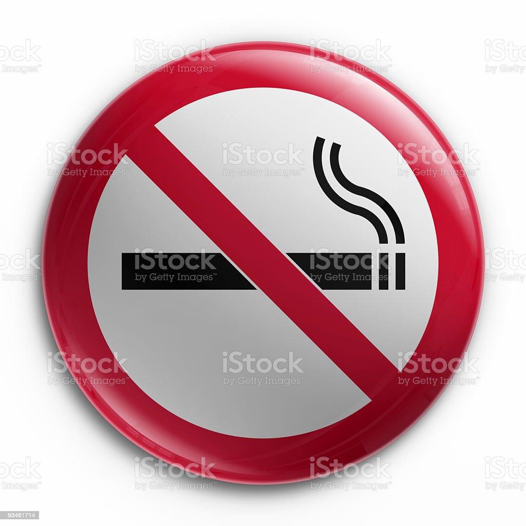 Badge - No smoking royalty-free stock photo