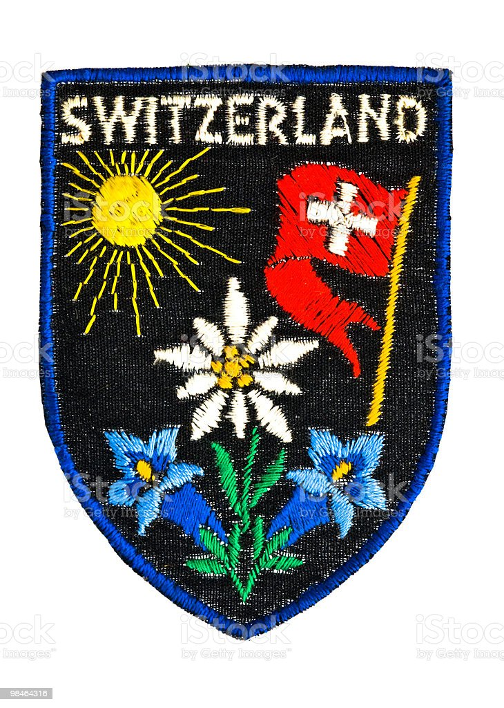 Badge or patch about Switzerland. royalty-free stock photo