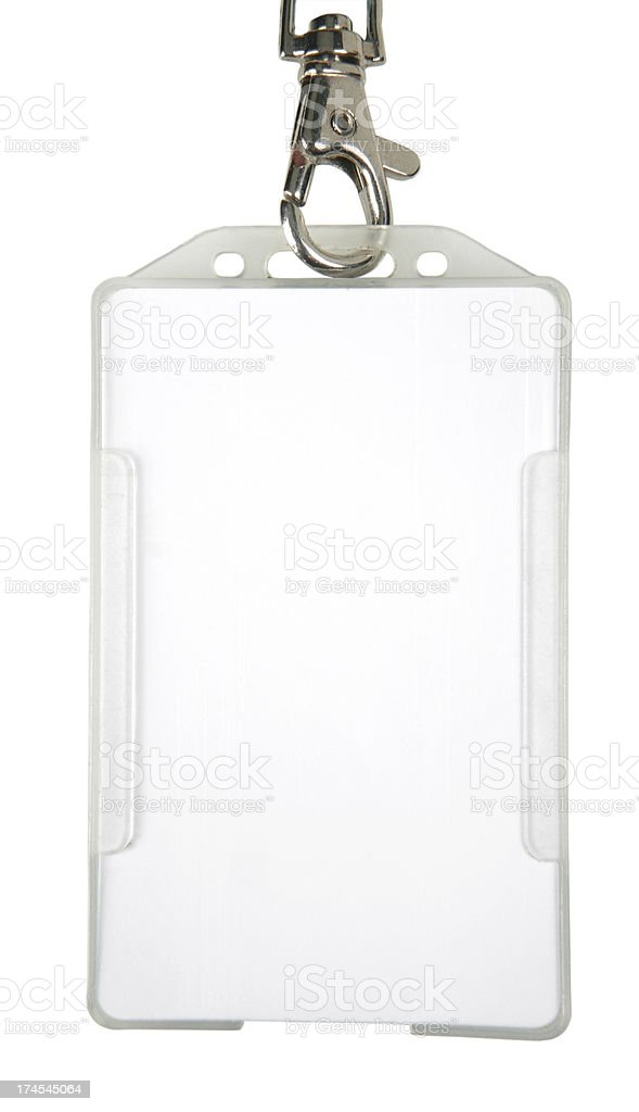 ID badge (XL) stock photo