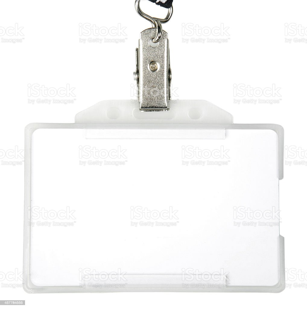 ID badge stock photo