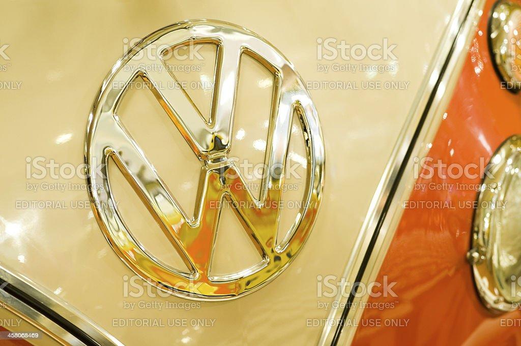 VW badge stock photo