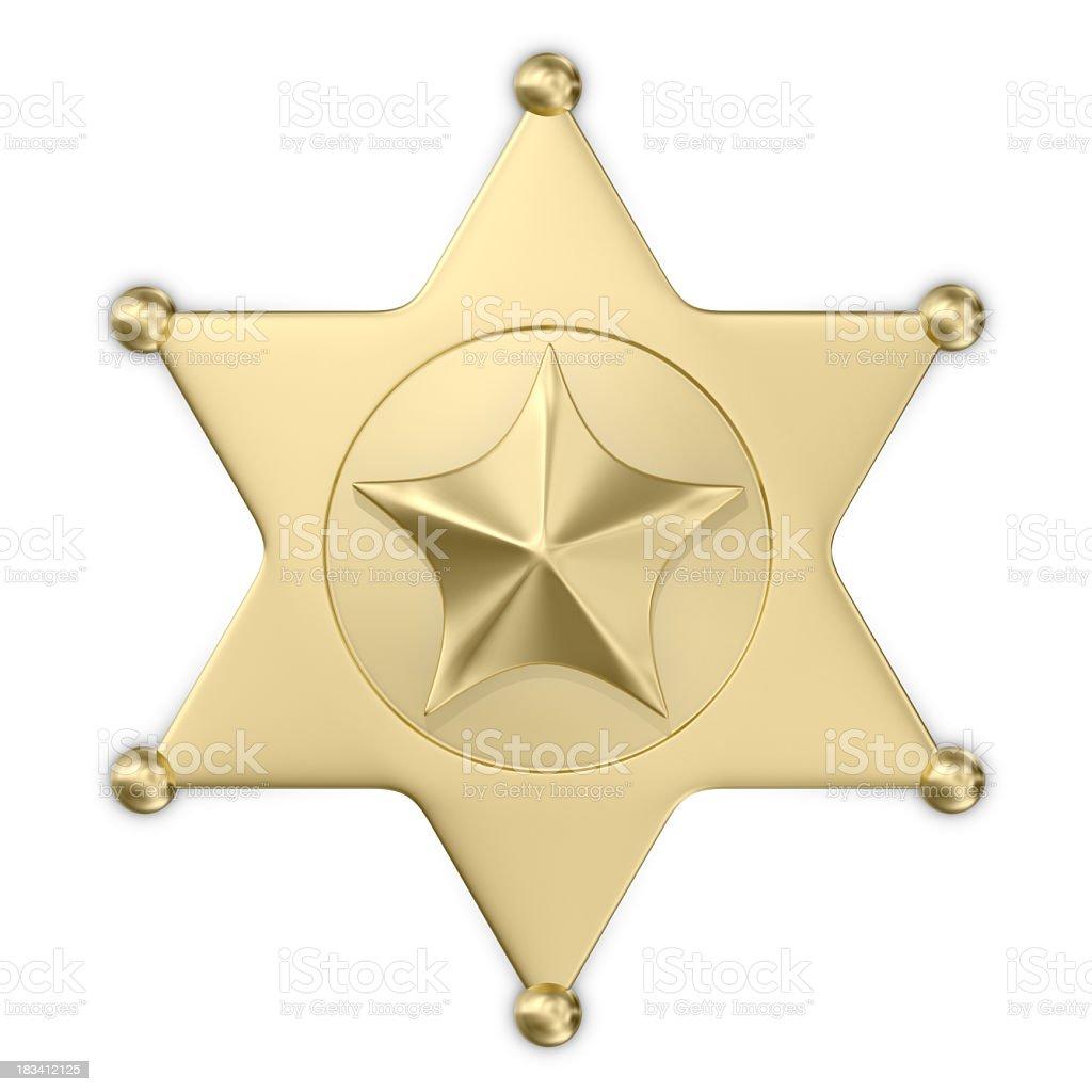 Badge Sheriff royalty-free stock photo