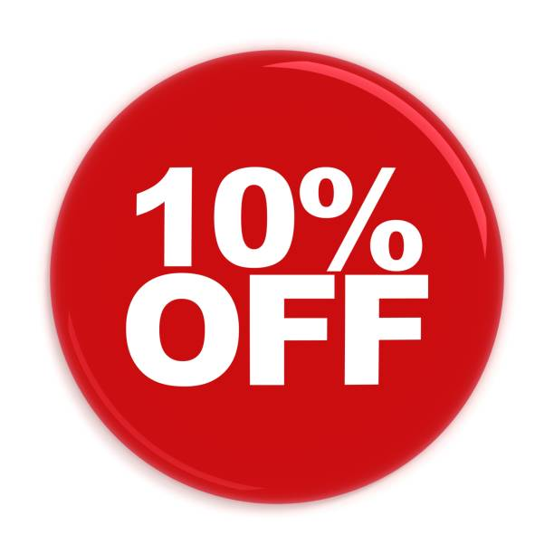 Badge shopping sale 10% isolated Badge shopping sale 10% isolated discount store stock pictures, royalty-free photos & images